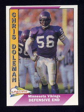1991 Pacific Football #287 Chris Doleman - Minnesota Vikings