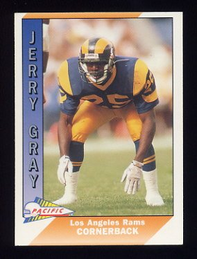 1991 Pacific Football #252 Jerry Gray - Los Angeles Rams