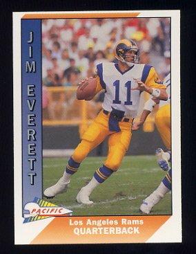 1991 Pacific Football #250 Jim Everett - Los Angeles Rams