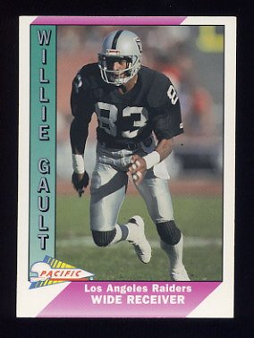 1991 Pacific Football #232 Willie Gault - Los Angeles Raiders