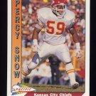 1991 Pacific Football #224 Percy Snow - Kansas City Chiefs