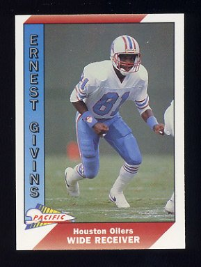 1991 Pacific Football #173 Ernest Givins - Houston Oilers