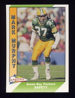 1991 Pacific Football #162 Mark Murphy - Green Bay Packers