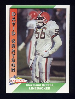 1991 Pacific Football #078 David Grayson - Cleveland Browns