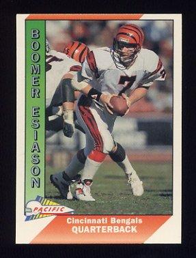 1991 Pacific Football #063 Boomer Esiason - Cincinnati Bengals