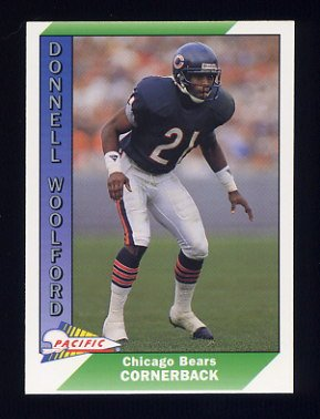 1991 Pacific Football #055 Donnell Woolford - Chicago Bears