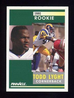 1991 Pinnacle Football #307 Todd Lyght RC - Los Angeles Rams