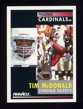 1991 Pinnacle Football #243 Tim McDonald - Phoenix Cardinals