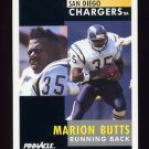 1991 Pinnacle Football #105 Marion Butts - San Diego Chargers