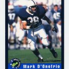 1992 Classic Football #40 Mark D'Onofrio - Green Bay Packers