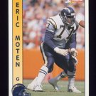 1992 Pacific Football #272 Eric Moten - San Diego Chargers