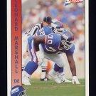 1992 Pacific Football #214 Leonard Marshall - New York Giants