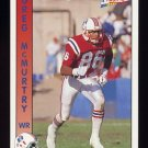 1992 Pacific Football #198 Greg McMurtry - New England Patriots