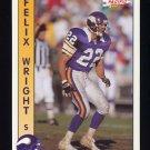 1992 Pacific Football #185 Felix Wright - Minnesota Vikings