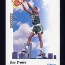 1991-92 Skybox Basketball #577 Dee Brown - Boston Celtics