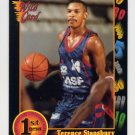 1991-92 Wildcard Basketball #075 Terence Stansbury - Temple Ex