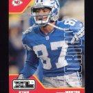 2002 Upper Deck XL Football #171 Johnnie Morton - Kansas City Chiefs