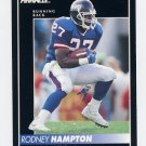 1992 Pinnacle Football #102 Rodney Hampton - New York Giants