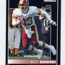 1992 Pinnacle Football #023 Ricky Sanders - Washington Redskins