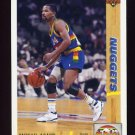 1991-92 Upper Deck Basketball #043 Michael Adams - Denver Nuggets