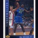 1993-94 Upper Deck Basketball #406 Mike Brown - Minnesota Timberwolves