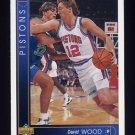 1993-94 Upper Deck Basketball #385 David Wood - Detroit Pistons