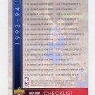 1993-94 Upper Deck Basketball #255 Checklist 193-255