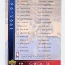 1993-94 Upper Deck Basketball #252 Checklist 1-64