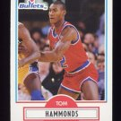 1990-91 Fleer Basketball #193 Tom Hammonds RC - Washington Bullets
