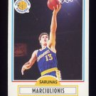 1990-91 Fleer Basketball #065 Sarunas Marciulionis RC - Golden State Warriors