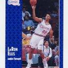1991-92 Fleer Basketball #297 LeRon Ellis RC - Los Angeles Clippers