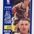 1991-92 Fleer Basketball #218 Chris Mullin - Golden State Warriors