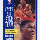 1991-92 Fleer Basketball #214 Hakeem Olajuwon - Houston Rockets
