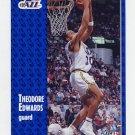 1991-92 Fleer Basketball #199 Blue Edwards - Utah Jazz