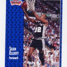 1991-92 Fleer Basketball #185 Sean Elliott - San Antonio Spurs