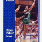 1991-92 Fleer Basketball #046 Rodney McCray - Dallas Mavericks