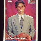 1993-94 Topps Basketball #086 Bobby Hurley RC - Sacramento Kings