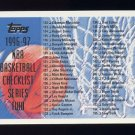 1996-97 Topps Basketball #221 Checklist 112-221