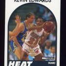 1989-90 Hoops Basketball #041 Kevin Edwards RC - Miami Heat