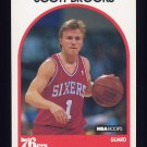 1989-90 Hoops Basketball #034 Scott Brooks RC - Philadelphia 76ers
