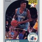 1990-91 Hoops Basketball #057 J.R. Reid RC - Charlotte Hornets