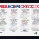 1991-92 Hoops Basketball #589 Checklist Card 1
