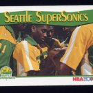 1991-92 Hoops Basketball #298 The Seattle Supersonics
