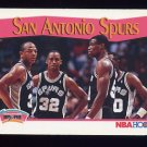 1991-92 Hoops Basketball #297 The San Antonio Spurs