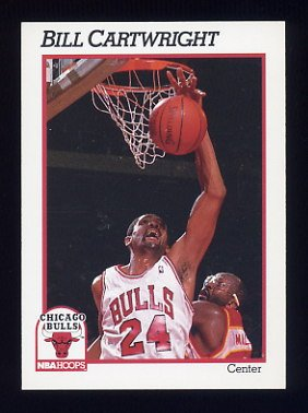 1991-92 Hoops Basketball #027 Bill Cartwright - Chicago Bulls