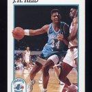 1991-92 Hoops Basketball #024 J.R. Reid - Charlotte Hornets
