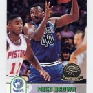 1993-94 Hoops Fifth Anniversary Gold #366 Mike Brown - Minnesota Timberwolves