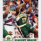 1993-94 Hoops Basketball #407 Vincent Askew - Seattle Supersonics