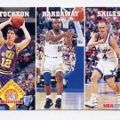 1993-94 Hoops Basketball #286 John Stockton / Tim Hardaway / Scott Skiles
