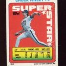 1990 Topps Sticker Backs Baseball #62 Chuck Finley - California Angels